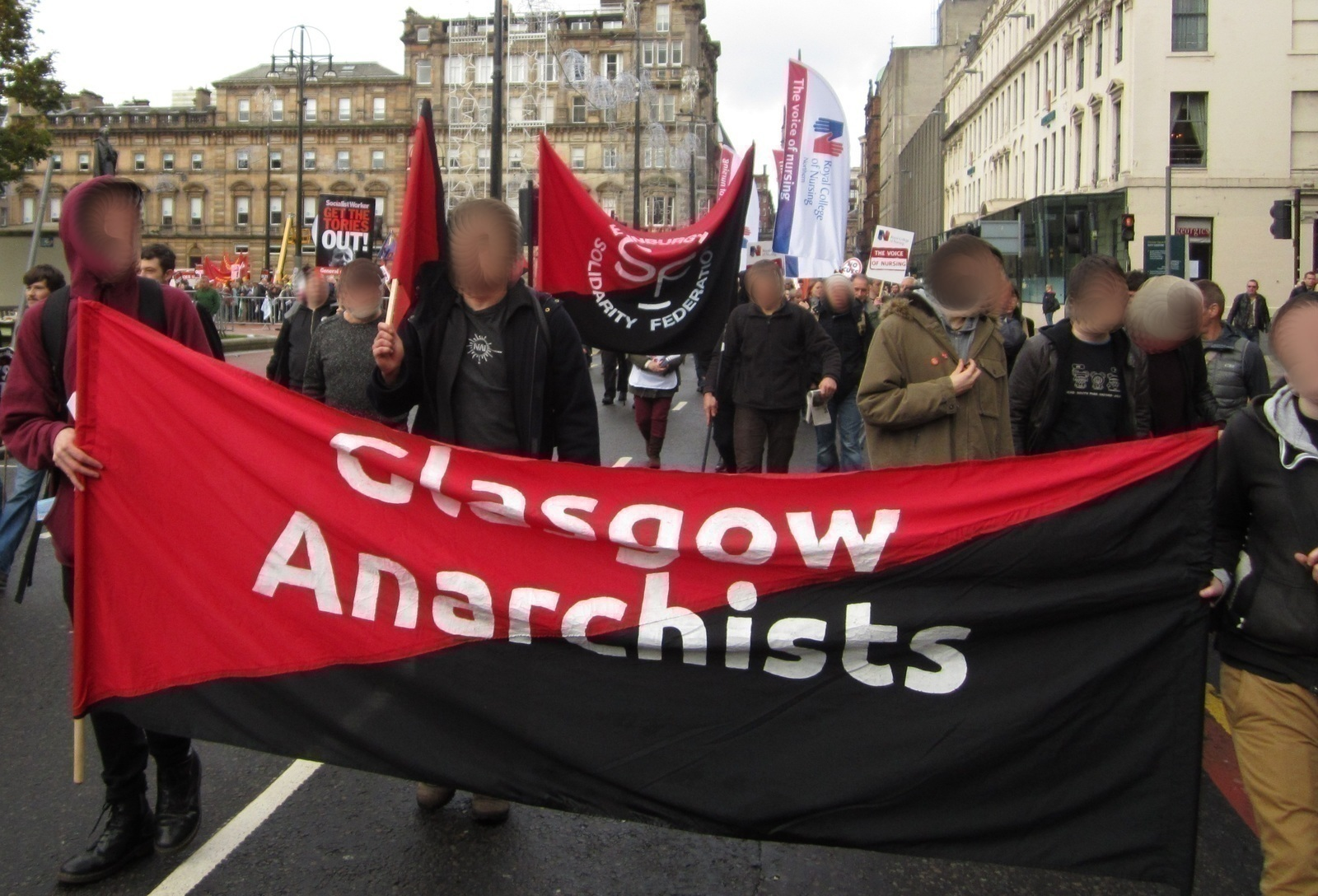 Thousands march against cuts in Glasgow