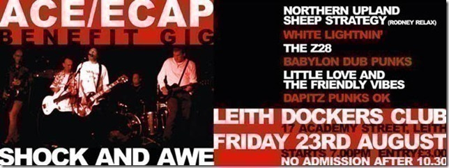 ACE/ECAP Benefit gig this Friday